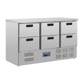 CR711  - Polar gekoelde werkbank met 6 laden