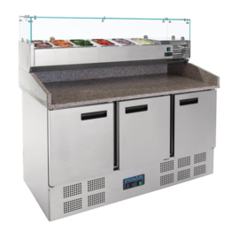 CN267- Polar gekoelde pizza/sandwich prepareercounter 368ltr