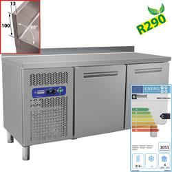 BMIV15/R2-BA - Koelwerkbank 600 MM , geventileerd, 2 deuren (245 Lit.) DIAMOND