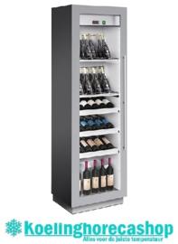 436500051 - Wijntemperatuurkast voor 86 bordeauxflessen, schuin staand met statische koeling, bedrijfsklaar NORDCAP MIAMI MEDIUM RF T