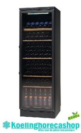 477210571 - Wijnopslagkast 106 flessen bedrijfsklaar vrijstaande versie zwart, uitrusting met glazen deur NORDCAP VKG 571 LED