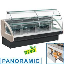 UT14/A4-R2 - Gekoelde vitrinetoonbank, statisch, ladensysteem, zonder reserv mm (BxDxH) : 1400x980xh1237e DIAMOND
