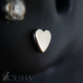 Titanium Threaded Heart