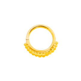 Gold Beaded Seam Ring