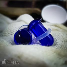 Single Flare Simple Plug In Cobalt (pair)
