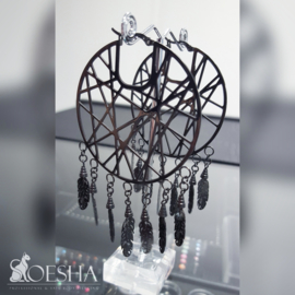"""Dreamcatcher"" hoop earrings (pair)"