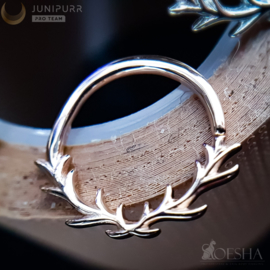 Raven Seam Ring Solid Rose Gold