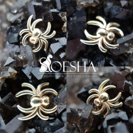 Genuine solid yellow gold Spider