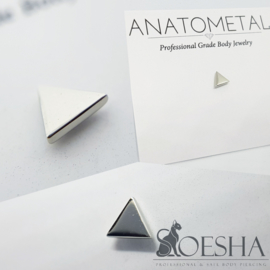 Threaded Genuine white gold Triangle