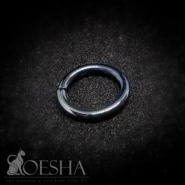 Shiny Black Niobium Seam Ring