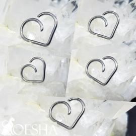Niobium Daith Heart