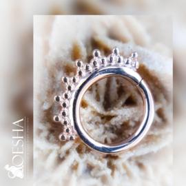 Rose Gold Tri-Bead Hinged Ring