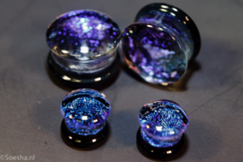 Glass fused dichroic double flare plug