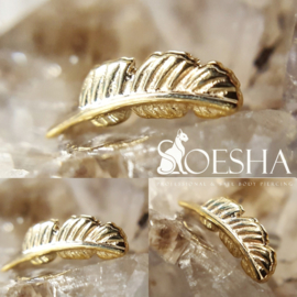 Threaded Solid Gold Feather End