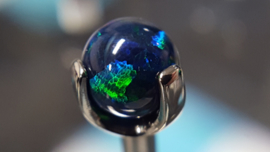 Prong Set Ball Black Opal
