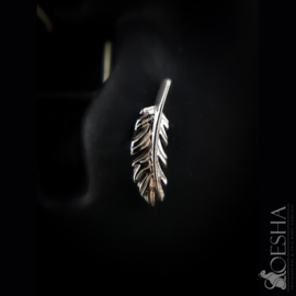 Solid Gold Feather End