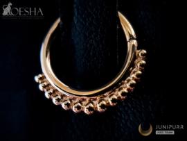 Gold Beaded Seam Ring Rose Gold