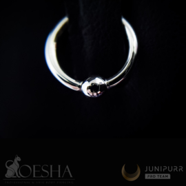 White Gold Fixed Bead Ring