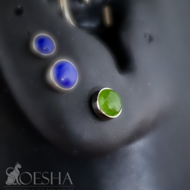 Titanium Bezel Set Jade