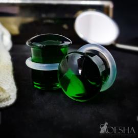 Single Flare Simple Plug in Emerald (paar)