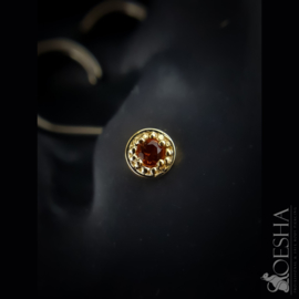 Solid Gold Millgrain Prong