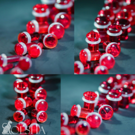 Single Flare Plugs In Ruby (pair)