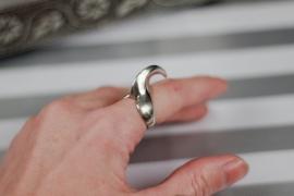 Echt zilver ring met klauw