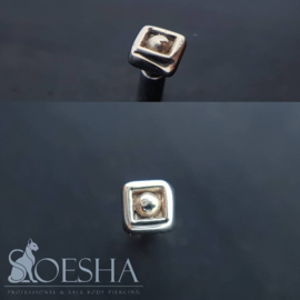 Threaded Solid Gold Diamond Bead