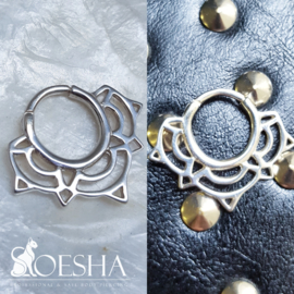 Lace Lotus Septum Ring