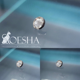Jewelled Flat disc dermal attachment