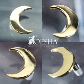 Threaded genuine gold moon