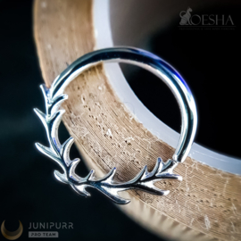 Raven Seam Ring Solid White Gold