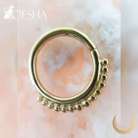 Yellow Gold Beaded Seam Ring
