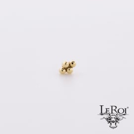 LeRoi solid gold threaded 4 bead cluster