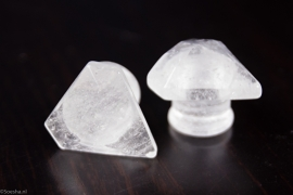 Quartz kistal Ice Plug (per pair)