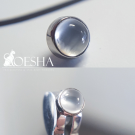Titanium Threaded End Moonstone