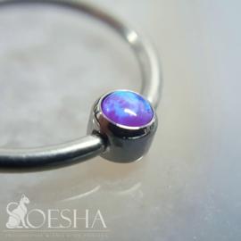 Titanium Captive Bezel Gem Sleepy Lavender Opal