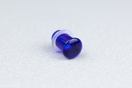 Single Flare Simple Plug in Cobalt