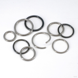 Niobium Seam Ring Shiny Black