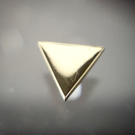 Threaded Genuine gold Triangle
