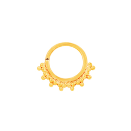 Tri-Bead Seam Ring Yellow Gold