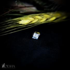 Ada Threadless End White Gold