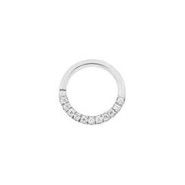 White Gold Swarovski Seam Ring
