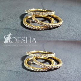 Conch ring with pave crystals