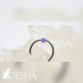 Opal captive bead ball (BCRing attachment) Deep Violet