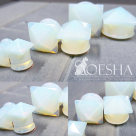 Opalite Stud Plugs (pair)