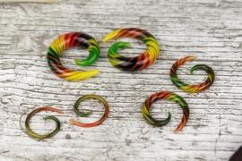 Pyrex Glass Spiral Rasta