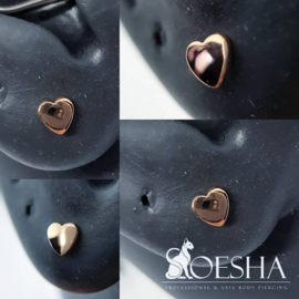 Rose Gold Threaded Heart