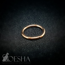 Solid rose gold seam ring
