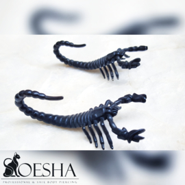 Gunmetal scorpion weight (pair)